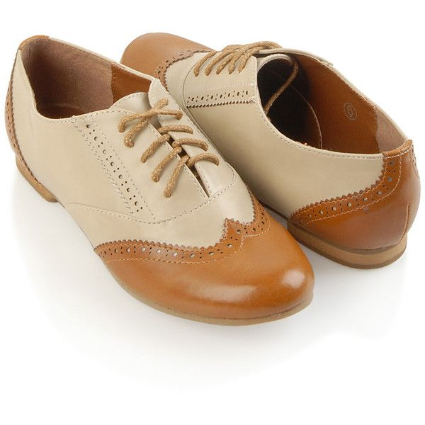 Vintage Saddle Oxfords (£20) ❤ liked on Polyvore featuring shoes, oxfords, flats, zapatos, vintage, women, saddle shoes, forever 21 oxfords, forever 21 flats and vintage shoes