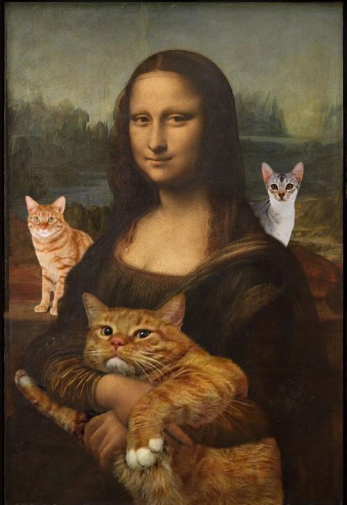 Mona Lisa loves cats