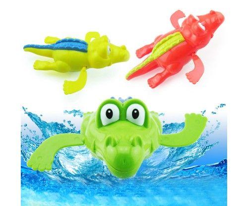 Vicces fürdőjáték - felhúzható teknős és krokodil. Szuper ajándék gyerekeknek, babáknak !