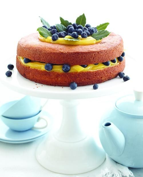 Lemon Cream & Berry Cake via Sweet Paul & Yahoo Food!