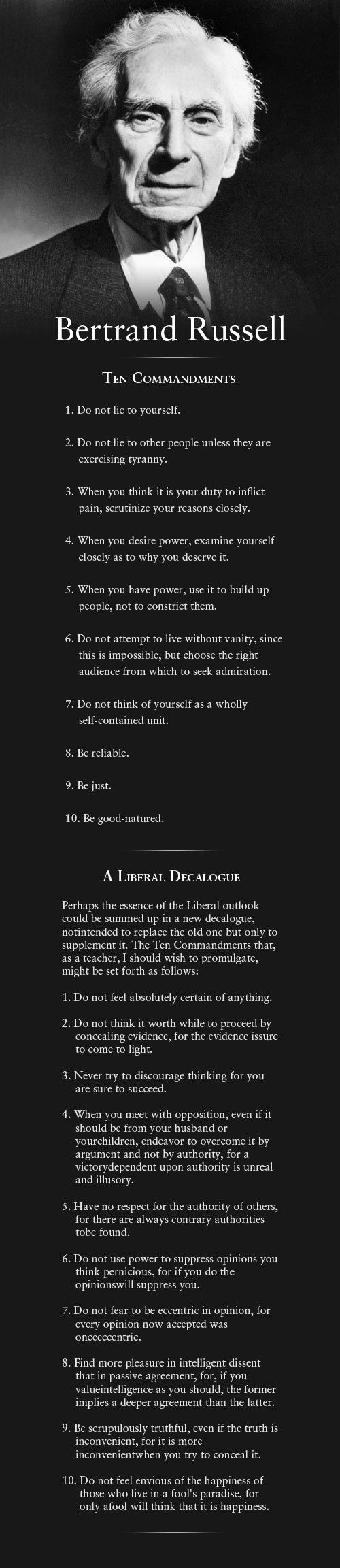 10 commandments for living in a healthy democracy.