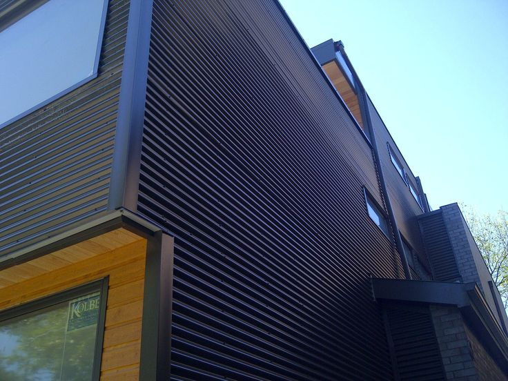 44 best metal siding images on pinterest arquitetura for Horizontal metal siding