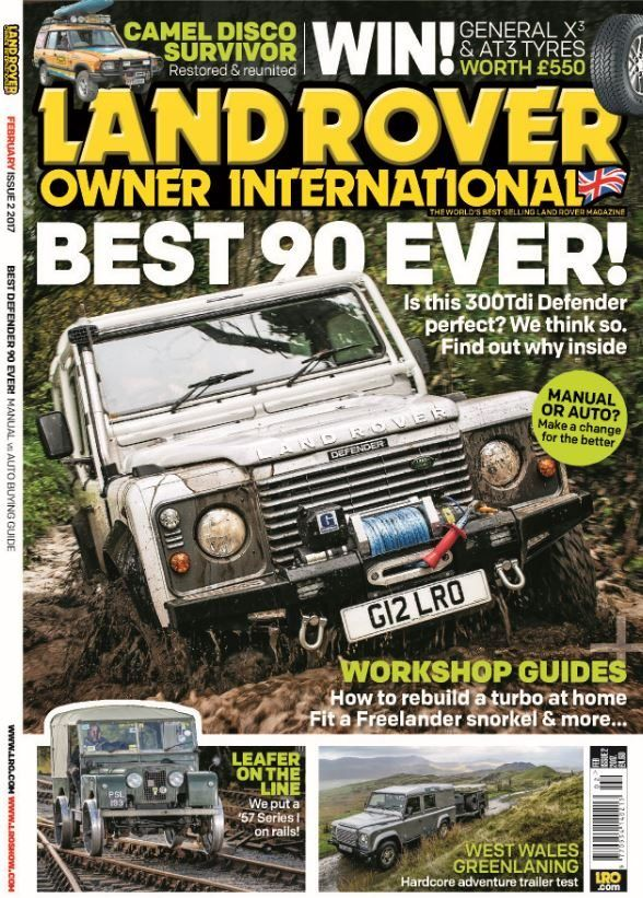 In this Issue:    WIN! General X3 & AT3 tyres worth £500    Best 90 ever! Is this 300 Tdi Defender perfect? We think so. Find out why inside    Workshop guides - How to rebuild a turbo at home, fit a freelander snorkel & more...    Camel disco survivor - restored & reunited