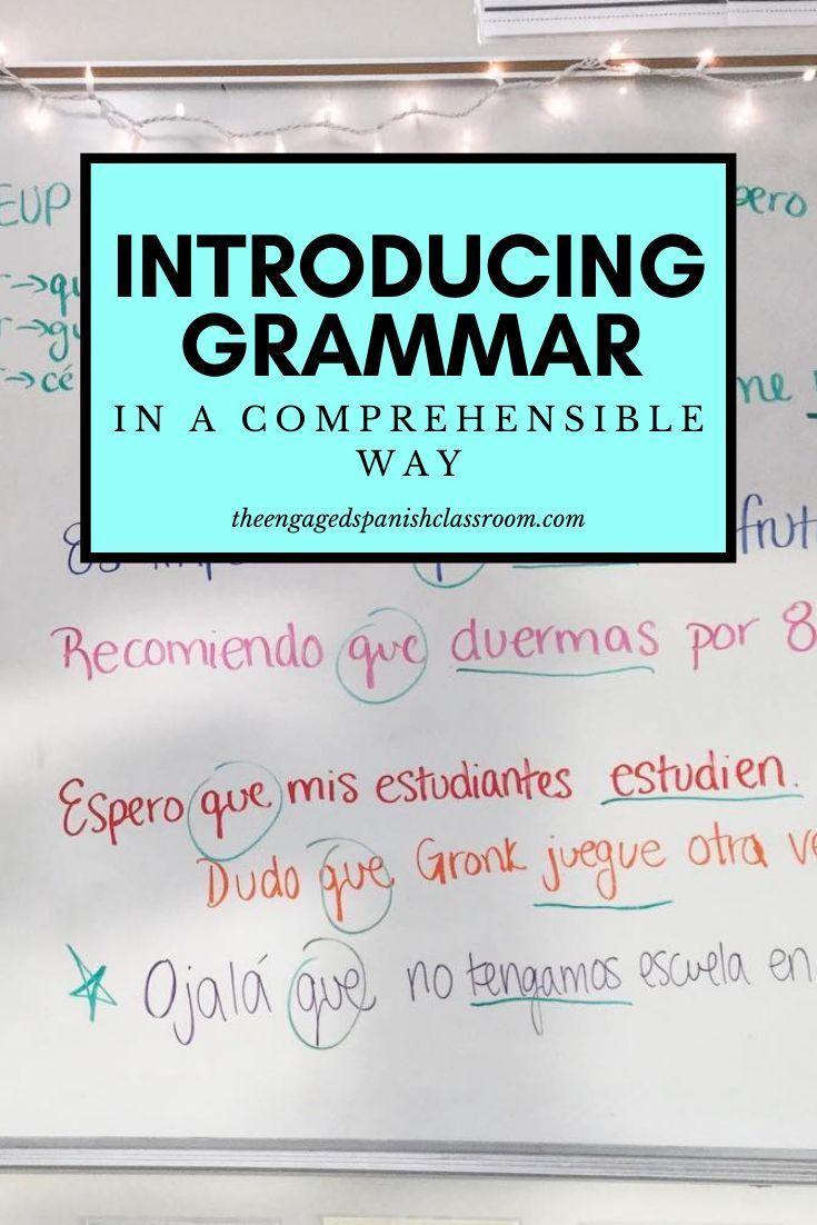 Introducing Grammar In A Comprehensible Way Middle School Spanish Activities Spanish Reading Activities Teaching Spanish [ 1102 x 735 Pixel ]