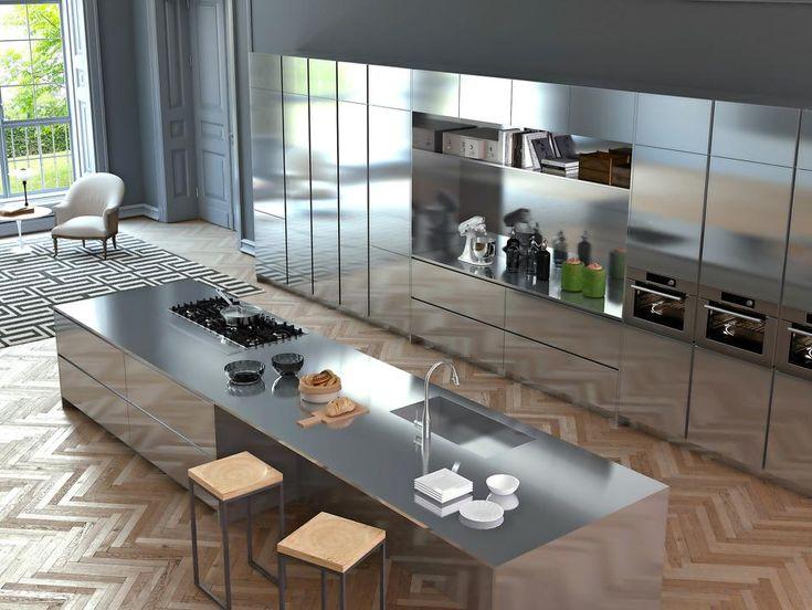 Oltre 25 fantastiche idee su cucina in acciaio inox su pinterest acciaio inossidabile - Cucina acciaio e legno ...