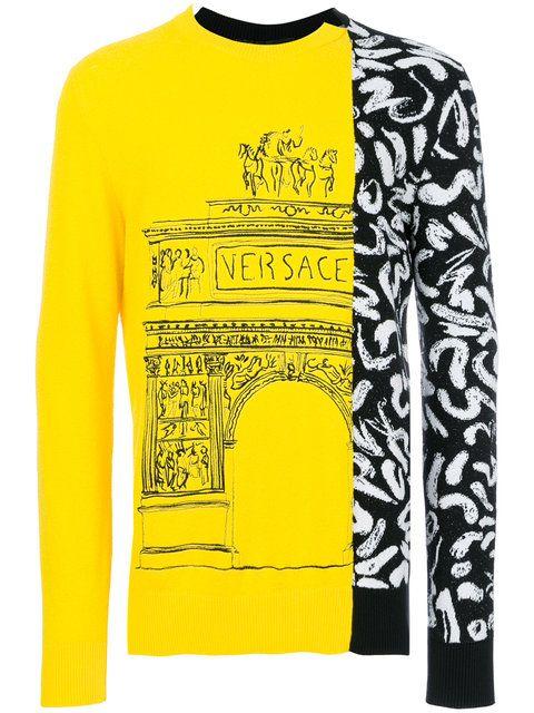 Versace jersey con bordado Demi Arco-Scribble