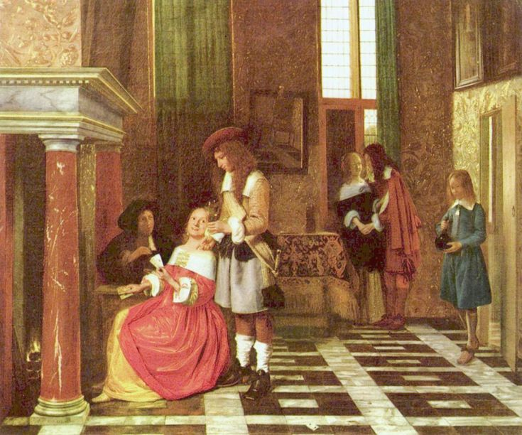 No one, better than Pieter de Hooch, knew how to render the intimacy of the Dutch houses, their solid and comfortable ease, nor to paint with more naturalness and observant sense the minor incidents of daily life, in the bourgeois mansions of Amsterdam.