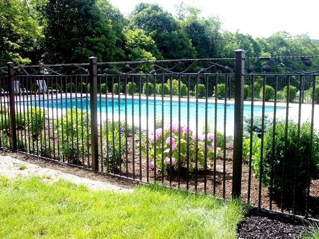 Decorative Wrought Iron Pool Fence