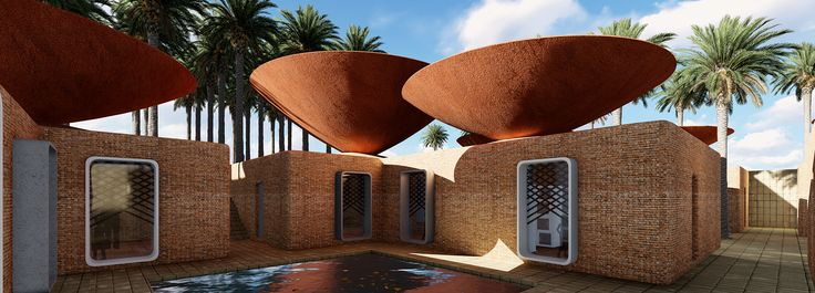 BMDesign's concave roofs offer a solution to water scarcity in iran