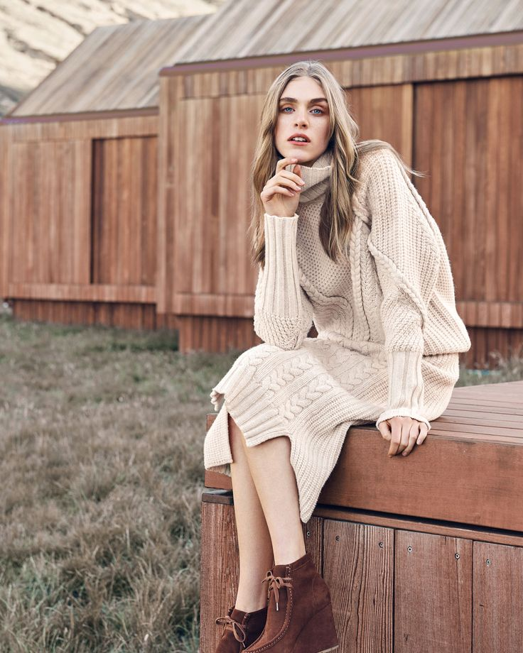 The statement knit of the season, this slouchy roll neck has a chunky cable and rib design that's made to curl up in. #countryroadstyle