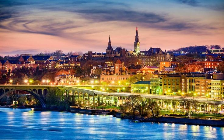 Georgetown University    Viewed from across the Potomac River / The Best College Architecture in America