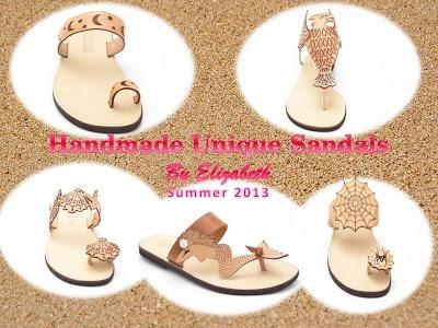 Handmade Shoes by Elizabeth: Χειροποίητα Σανδάλια 2013  https://www.facebook.com/Elizabeth.HandmadeShoes