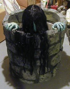 i found samara the ring haunted house animated halloween prop motorized well scary on wish check it out - Spooky Halloween Decor