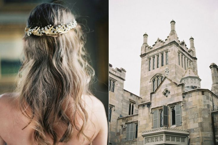 Gold hair wreath for bride | Liv Hart 2016 Collection via @FlyAwayBride