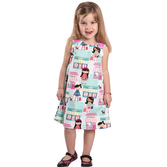 Boutique dress pinafore dress toddler dress by CraftaholicShop