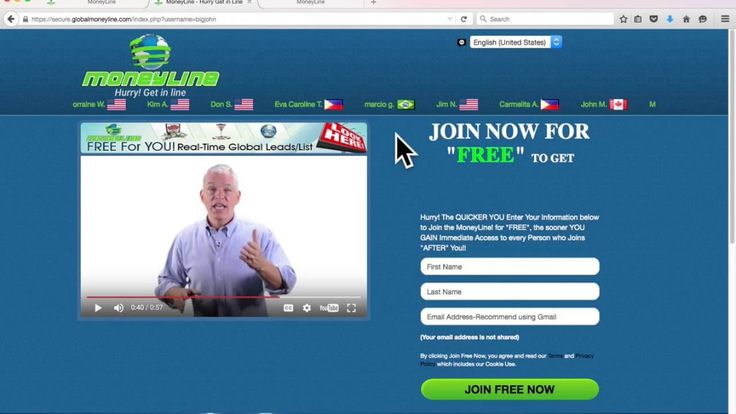 GlobalMoneyLIne Hurry Get in Line for FREE