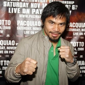 Manny Pacquiao - he is a Christian believer. it's great!