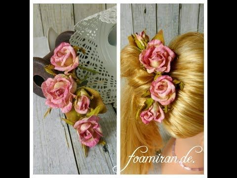 Haarnadeln Hairpins Foamiran - YouTube