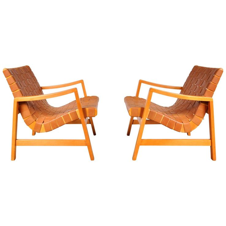 """Pair of Two """"Vostra"""" Easy Chairs by Jens Risom for Knoll, USA in 1941"""