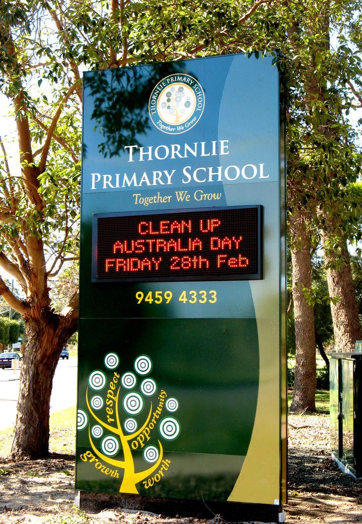Thornily Primary School #CSI #CorporateSignIndustries #200 #series #custom #Design #signage #LED school #recognition #identity #sign