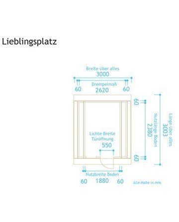 Holz-Gartenhaus Lieblingsplatz Komplett-Set kaufen bei OBI