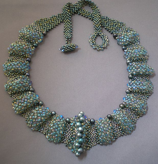 Marcia DeCoster inspiration   Flickr - Photo Sharing! June/July Beadwork Magazine 2009    RAW with a peyote clasp