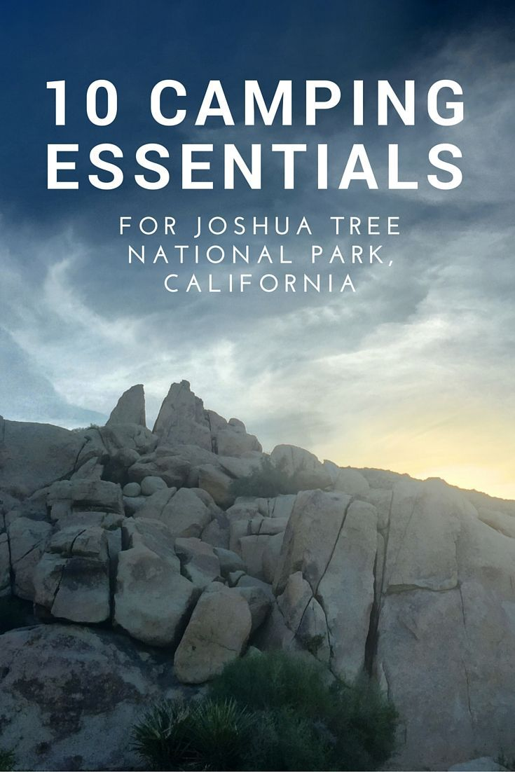 10 Camping Essentials for Joshua Tree National Park, California, USA