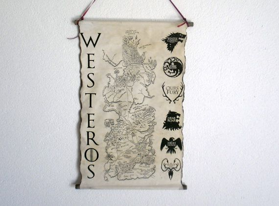 Map of Westeros  Game of Thrones Map GoT Map by LandOfScrolls