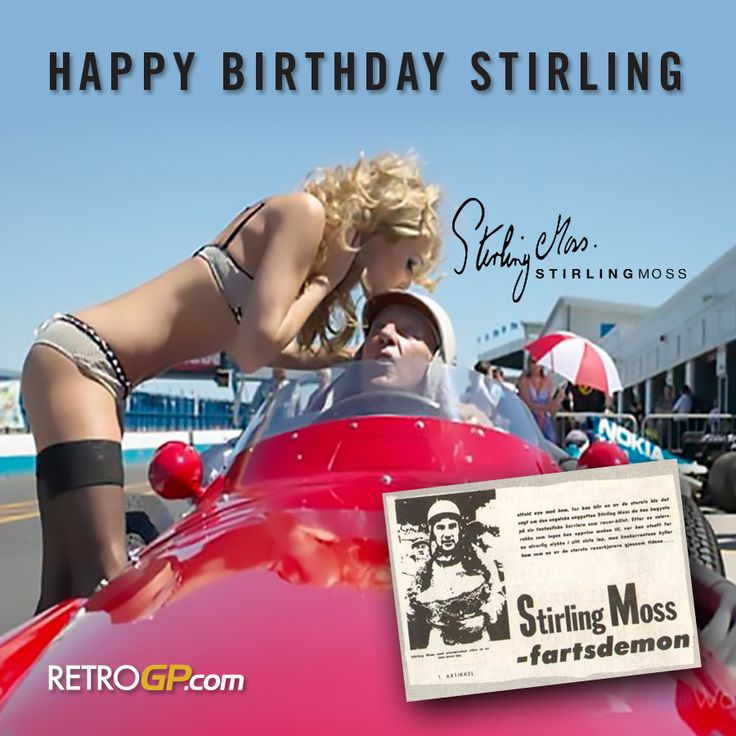 HAPPY BIRTHDAY to Stirling Moss who turns 86 today. I'm sure we would all love to give his helmet a little kiss!! He'd like that.