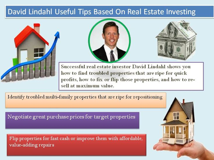 David lindahl make high profit and teaching about real estate business, how to sales your home with high profit, how to buy new home and how to avoid scam