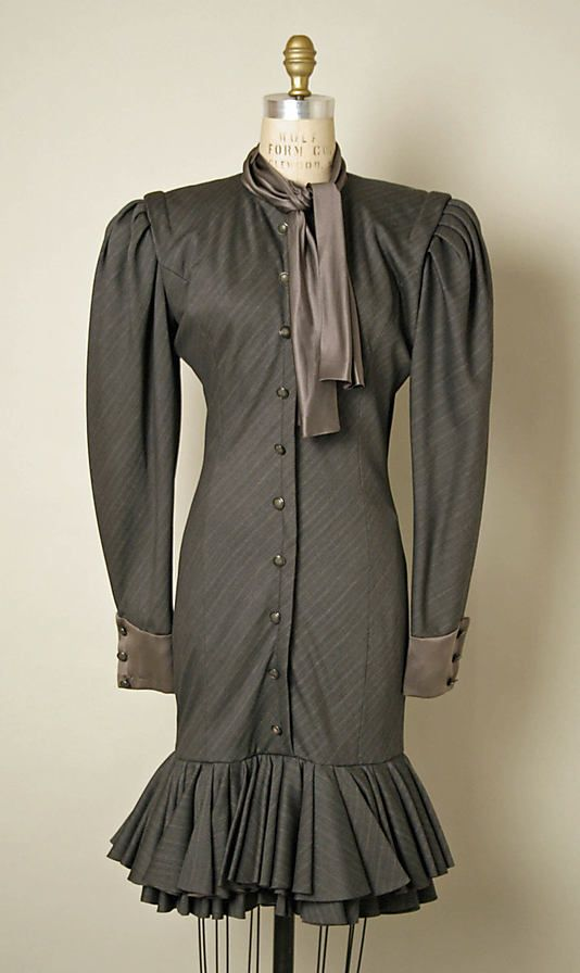 1980s Emanuel Ungaro wool and silk dress, French, via MMA.