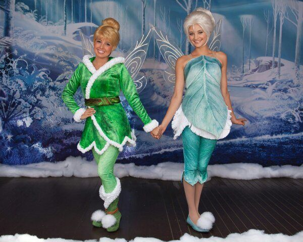Tinkerbell and Periwinkle OMG we juss said yesterday we were gunna do Nevaeh n Jerzie like this!! :)