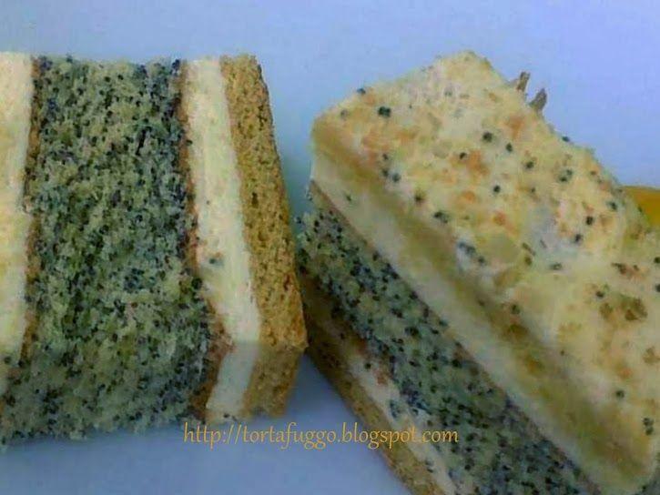 : Mákos francia krémes torta