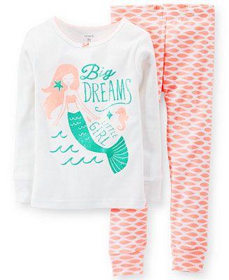 Carter's Baby Girls' 2-Piece Mermaid Pajamas Set