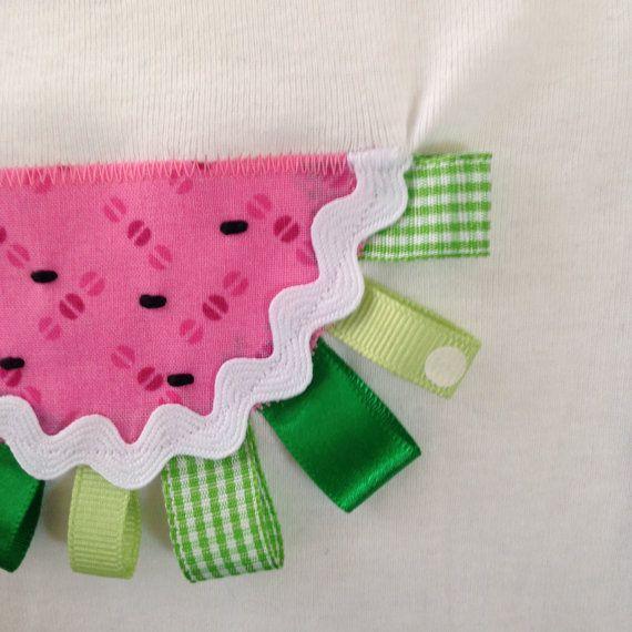 Watermeloen stoffen / lint Onesie van ThreadOverHeelsByM op Etsy