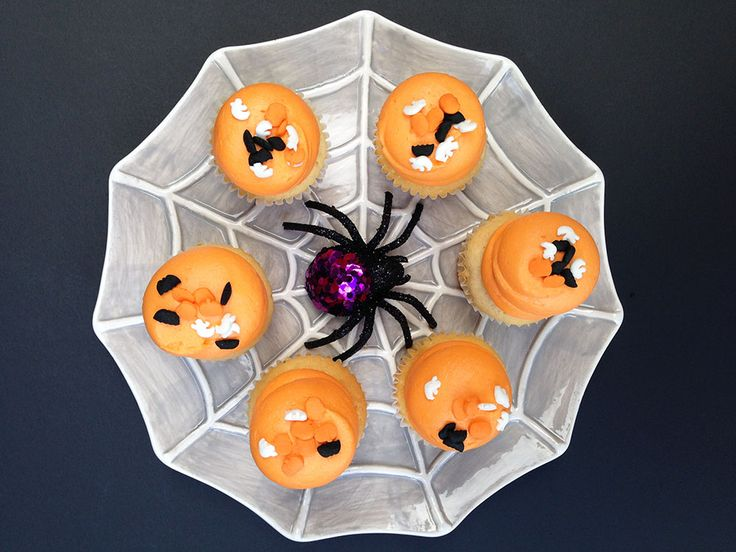 Vanilla mini cupcakes with Halloween sprinkles. By Bake Sale Toronto