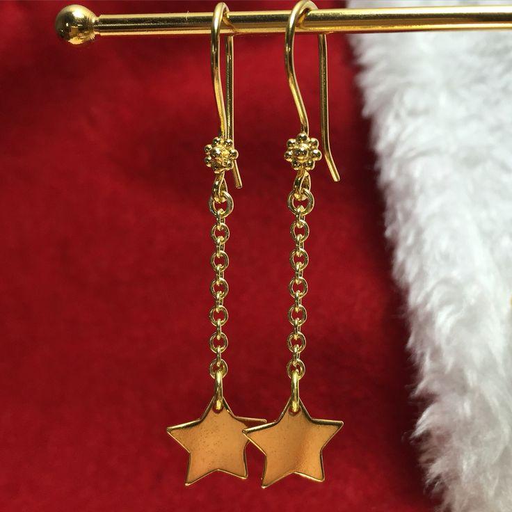 Dangle earrings with stars  www.stopandwearjewelry.com