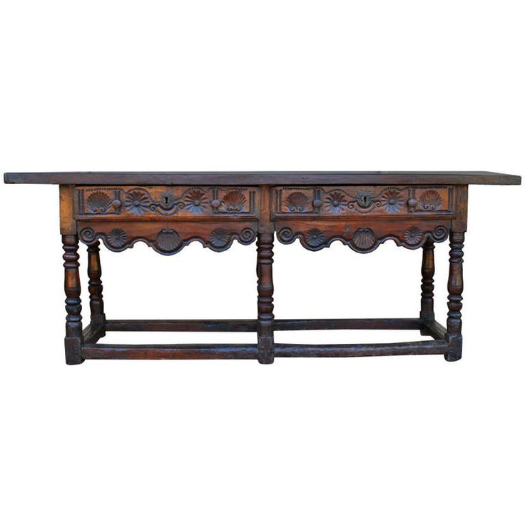 Exceptional Late 17th Early 18th Century Spanish Walnut Table