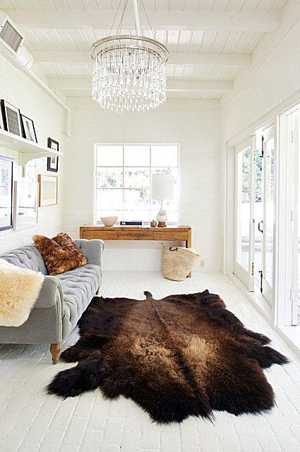 Overland Buffalo Hide Rug #rug #livingroom #homedecor Rug Placement   Rug  On Carpet   Rug Placement In Living Room   Rug Placement Bedroom   The Rug  Seller ... Part 95