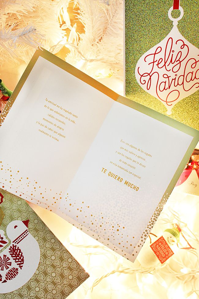 Hallmark Vida Spanish Christmas Greeting Card