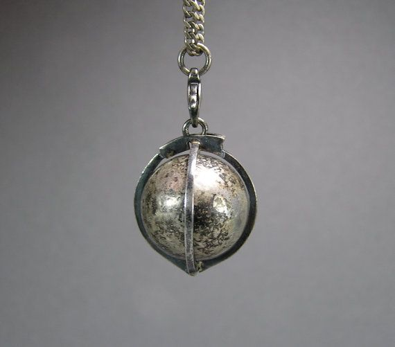 Sterling Harmony Ball Fairy Ball Necklace Musical by WickedMagpie