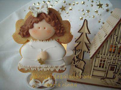 dulce y algo salado-cursos de galletas decoradas: Galletas decoradas en blanco y oro!