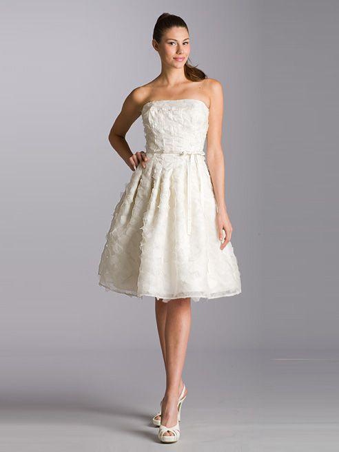 white dresses knee length