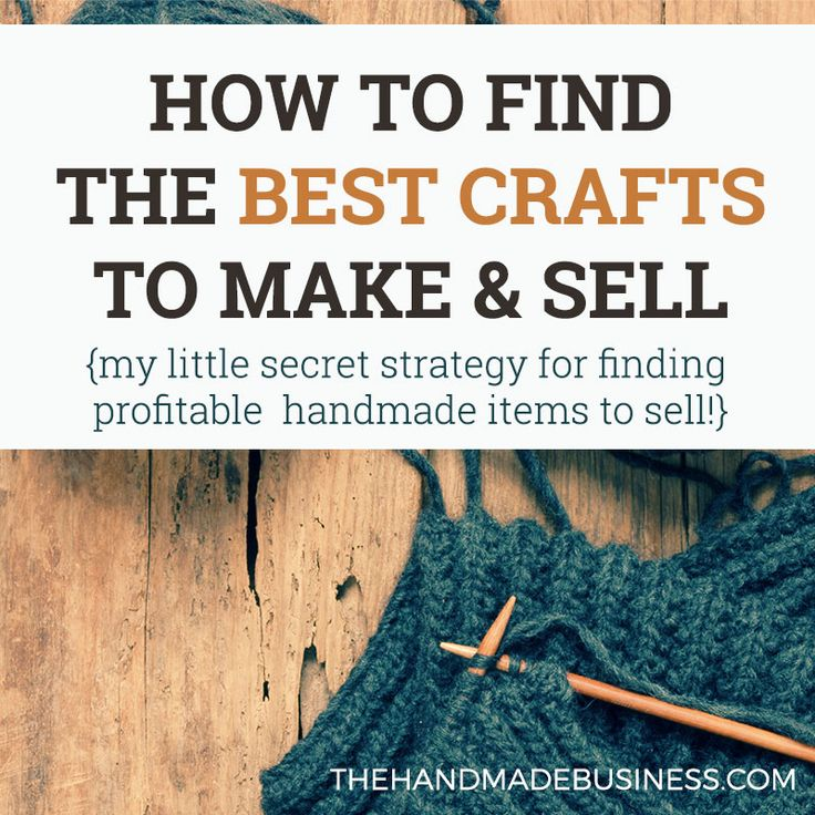"How to Find the Best Crafts to Make & Sell - A little ""secret"" for researching whether your craft idea is profitable or not! #thehandmadebusiness #craftstosell #etsyseller"