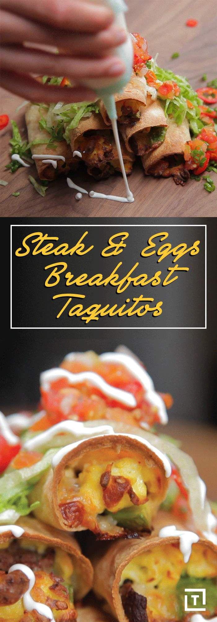 Wake Up to Steak & Eggs Breakfast Taquitos