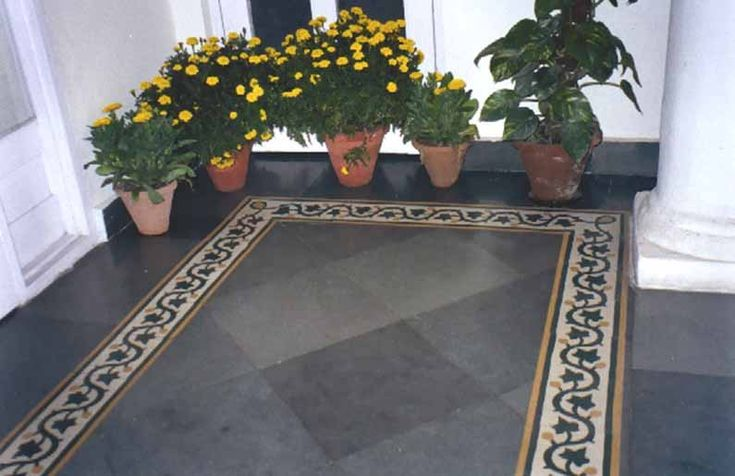 Marble Flooring Design Border