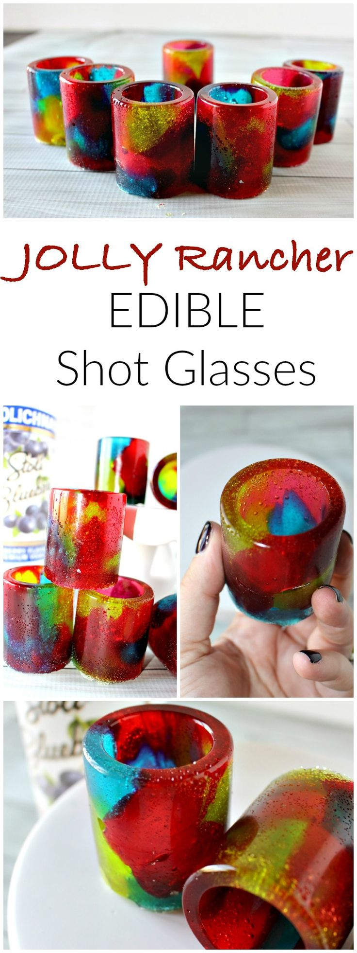 Jolly Rancher EDIBLE Shot Glasses - These are PERFECT for New Year's Eve!! These candy shot glasses will make your next party a huge hit!!