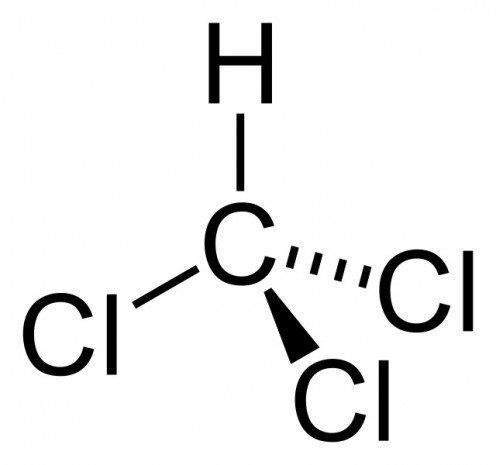 Chloroform has a relatively simple structural formula but can produce major effects.
