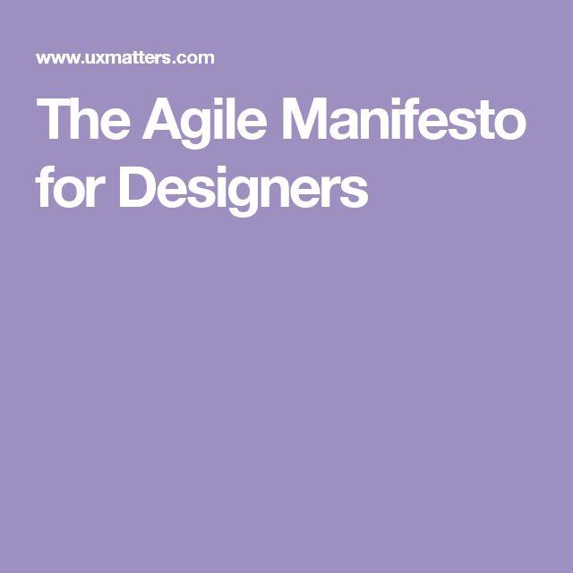 The Agile Manifesto for Designers