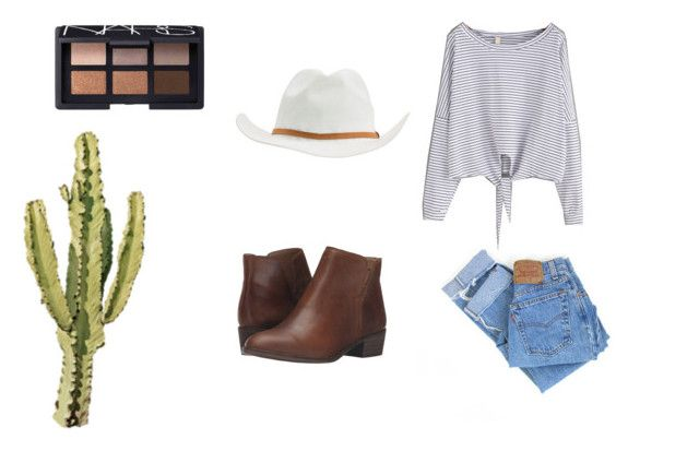 cassie by madisongglm on Polyvore featuring Levi's, Splendid, RVCA and NARS Cosmetics